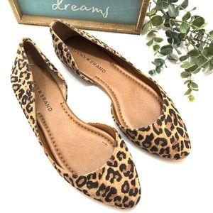 Lucky Brand Abia D'Orsay Leopard Print Ballet Flat